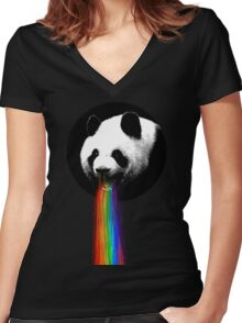 Pandalicious Women's Fitted V-Neck T-Shirt