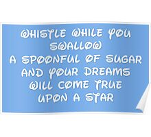 WHISTLE WHILE SWALLOWING Poster