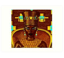 Black Egyptian princess in our modern digital art style Art Print