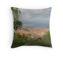 captivating mountain Throw Pillow