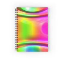 Colorful Waves Disco Background. Spiral Notebook