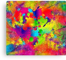Splattered paint. Abstract background. Canvas Print