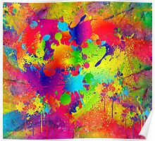 Splattered paint. Abstract background. Poster
