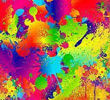 Splattered paint. Abstract background. by TK0920