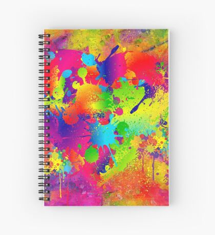 Splattered paint. Abstract background. Spiral Notebook