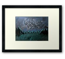 Storm in the Back Field Framed Print