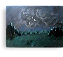 Storm in the Back Field Canvas Print