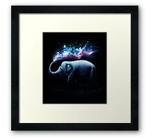 Elephant Splash Framed Print