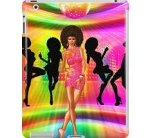 Retro disco dance scene with silhouettes iPad Case/Skin
