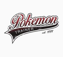 Pokemon Trainer_Red_Vintage by Lisa Richmond