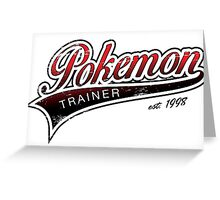 Pokemon Trainer_Red_Vintage Greeting Card