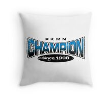 Pokemon Champion_Blue Throw Pillow