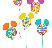 Retro Disney World Podcast Balloons by retrowdw
