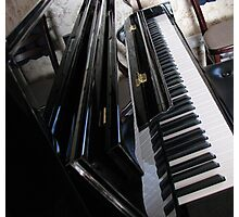 The Ebony and the Ivory - Piano Reflections Photographic Print