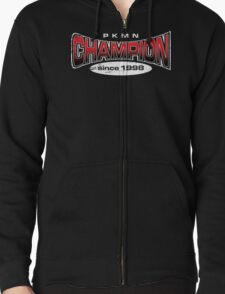 Pokemon Champion_Red_DarkBG Zipped Hoodie