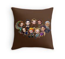 Chibi Damn Heroes Throw Pillow