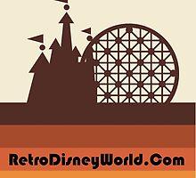Retro Disney World Block Logo by retrowdw
