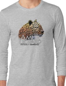 Critically Endangered - Amur Leopard Long Sleeve T-Shirt