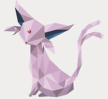 Origami Espeon by Lisa Richmond