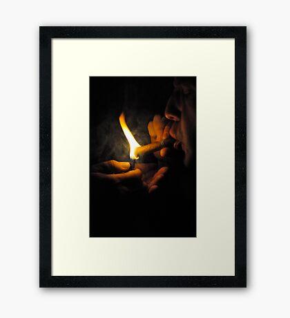 Cuban Fire Framed Print