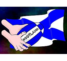 Rugby Scotland Flag Photographic Print