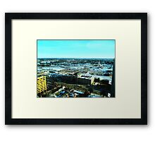 Winnipeg from Above in the Winter Framed Print