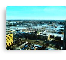 Winnipeg from Above in the Winter Canvas Print