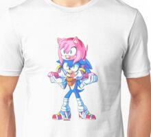 Sonic Boom - Sonic & Amy Rose (Sonamy) Unisex T-Shirt