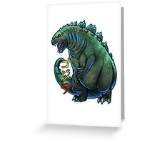 Godzilla Chibi Greeting Card