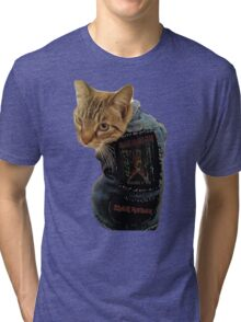 Iron Maiden Cat Tri-blend T-Shirt