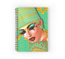 Egyptian queen adorned with gold and turquoise. Spiral Notebook