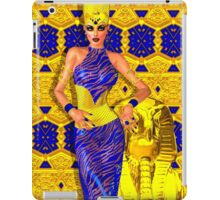 Seductive Egyptian woman in gold and blue. iPad Case/Skin