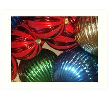 The christmas ornament invasion is on Art Print