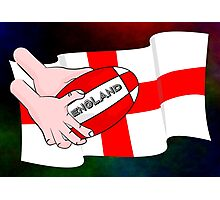 Rugby England Flag Photographic Print