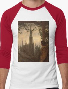 Caspar David Friedrich - Garden Bower in Greifswald Men's Baseball ¾ T-Shirt