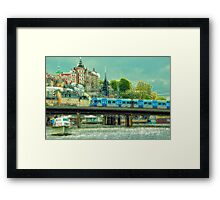 Stockholm as seen from Gamla Stan but different Framed Print