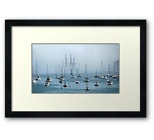 Sailing into the Fog   Framed Print