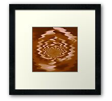 Latte Leaf Framed Print