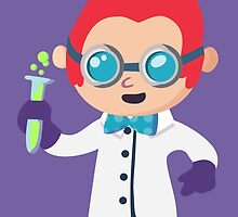 Cute Scientist by pomnook