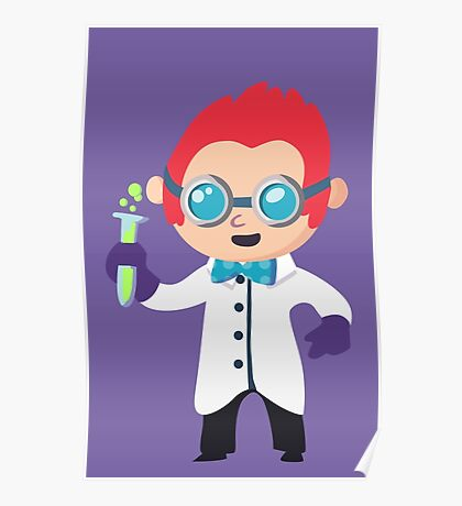 Cute Scientist Poster