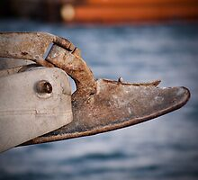 Rusty anchor by Andrew Harris