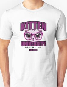 Kitten University - Purple T-Shirt