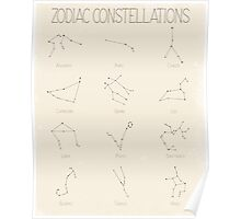 Zodiac Constellations - Light Poster