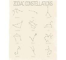Zodiac Constellations - Light Photographic Print