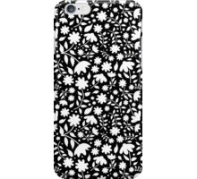Delicate Black and White Floral Pattern iPhone Case/Skin