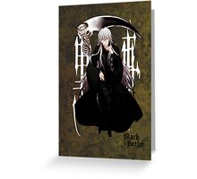 Black Butler - Undertaker Greeting Card