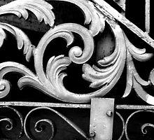Gate Detail B&W- New Orleans, Louisiana, USA by ArtsGirl2