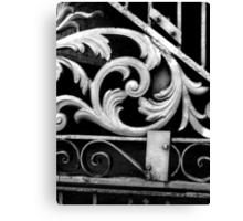 Gate Detail B&W- New Orleans, Louisiana, USA Canvas Print