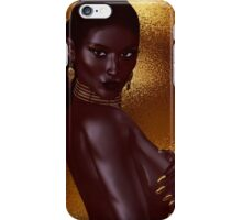 A beautiful young African woman wearing gold jewelry iPhone Case/Skin