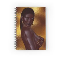 A beautiful young African woman wearing gold jewelry Spiral Notebook